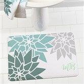Mod Floral Personalized Memory Foam Bath Mat - 17495