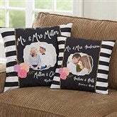 Modern Chic Personalized Throw Photo Pillows