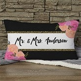 Modern Chic Personalized Lumbar Throw Pillow - 17497-LB