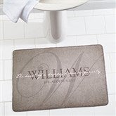 Heart of Our Home Personalized Memory Foam Bath Mat - 17498
