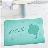 Sea Creatures Personalized Memory Foam Bath Mat - 17500