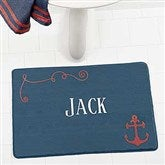 Nautical Personalized Memory Foam Bath Mat - 17501