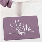 Wedded Pair Personalized Memory Foam Bath Mat - 17505