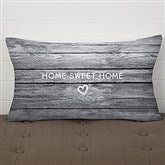 Home Is Love Personalized Lumbar Throw Pillow - 17512-LB