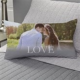 LOVE Personalized Lumbar Throw Pillow - 17515-LB