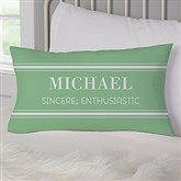 His Name Means... Personalized Lumbar Throw Pillow - 17518-LB