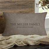 Heart Of Our Home Personalized Lumbar Throw Pillow - 17519-LB