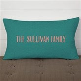 Greetings Personalized Lumbar Throw Pillow - 17521-LB