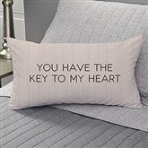 Key To My Heart Personalized Lumbar Throw Pillow - 17522-LB