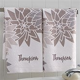 Mod Floral Personalized Hand Towel - 17527