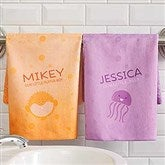 Sea Creatures Personalized Hand Towel - 17531