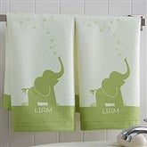Baby Zoo Animals Personalized Hand Towel - 17538