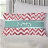 Preppy Chic Personalized Lumbar Throw Pillow - 17549-LB