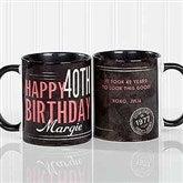 Vintage Birthday Personalized Coffee Mug 11 oz.- Black - 17555-B
