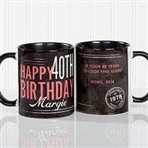 Vintage Birthday Personalized Coffee Mug 11 oz.- Black - 17555-B