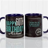 Vintage Birthday Personalized Coffee Mug- 11 oz.- Blue - 17555-BL