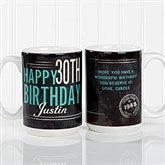 Vintage Birthday Personalized Coffee Mug 15oz.- White - 17555-L
