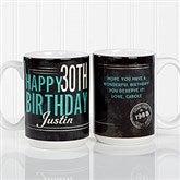 Vintage Birthday Personalized Coffee Mug 15oz.- White - 17555-L