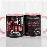 Vintage Birthday Personalized Coffee Mug- 11 oz.- Pink - 17555-P