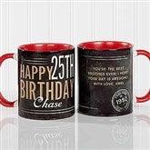 Vintage Birthday Personalized Coffee Mug- 11 oz.- Red - 17555-R