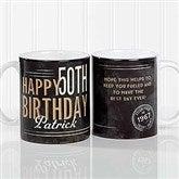 Vintage Birthday Personalized Coffee Mug 11 oz.- White - 17555-S
