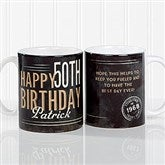 Vintage Birthday Personalized Coffee Mug 11 oz.- White - 17555-S