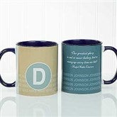 Sophisticated Quotes Personalized Coffee Mug- 11 oz.- Blue - 17556-BL