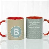 Sophisticated Quotes Personalized Coffee Mug- 11 oz.- Red - 17556-R