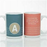 Sophisticated Quotes Personalized Coffee Mug 15oz.- White - 17556-L