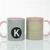 Sophisticated Quotes Personalized Coffee Mug- 11 oz.- Pink - 17556-P