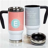 Sophisticated Quotes Personalized Travel Mug - 17557