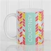 Geometric Personalized Coffee Mug 11 oz.- White - 17560-S