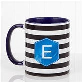Modern Stripe  Personalized Coffee Mug- 11 oz.- Blue - 17561-BL