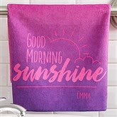 Morning Motivation Personalized Hand Towel - 17570