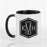 Classic Monogram Personalized Coffee Mug 11 oz.- Black - 17572-B