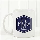 Classic Monogram Personalized Coffee Mug 11 oz.- White - 17572-S