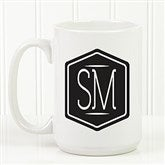Classic Monogram Personalized Coffee Mug 15oz.- White - 17572-L