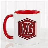 Classic Monogram Personalized Coffee Mug 11 oz.- Red - 17572-R