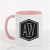Classic Monogram Personalized Coffee Mug 11 oz.- Pink - 17572-P