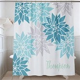 Mod Floral Personalized Shower Curtain - 17578
