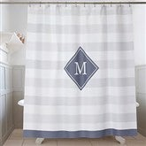 Classic Initial Personalized Shower Curtain - 17579