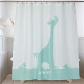 Baby Zoo Animals Personalized Shower Curtain - 17586
