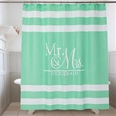 Wedded Pair Personalized Shower Curtain - 17588