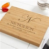 Heart Of Our Home Personalized Bamboo Cutting Board- 10x14 - 17593