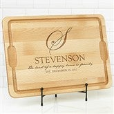 Heart Of Our Home Personalized Extra Large Cutting Board- 15x21 - 17595-XL
