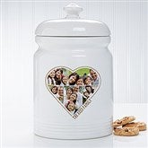 The Heart Of A Family  Personalized Photo Cookie Jar - 17598