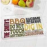 BBQ Rules Personalized Acrylic Serving Tray - 17605