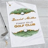 Golf Course Personalized Golf Towel - 17611