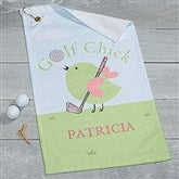 Golf Chick Personalized Ladies Golf Towel - 17619