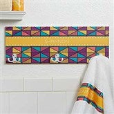 Geometric Personalized Towel Hook - 17621